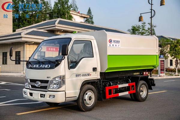 福田小卡5方挂桶垃圾车价格、报价、厂家